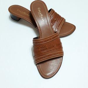 Cole Haan resort leather slide sandals strapless